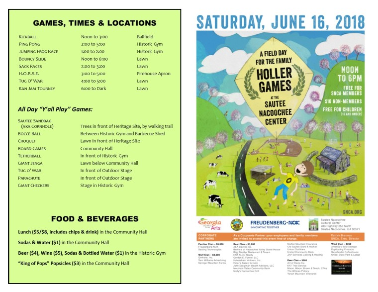 MAP-Holler Games 2018